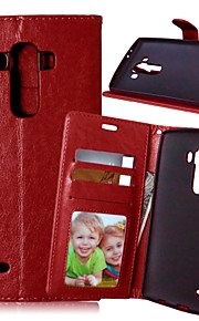 Luxury PU Leather Card Holder Wallet Stand Flip Cover With Photo Frame Case For LG G3/G4/L90 (Assorted Colors)