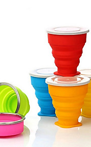 KUSHUN™240ML Outdoor Portable Multifunctional Silicone Foldable Creative Cup (Assorted Color)