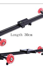 4 rodas rastrear 30 centímetros controle deslizante para a câmera