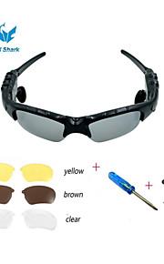 משקפי שמש מוסיקה אלחוטיות oldshark® w / דיבורית Bluetooth סטריאו עדשת אוזניות + 3 זוג אוזניות 4.0