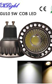 youoklight® 1pcs GU10 5W 400lm 3000K / 6000K 1 x cob ledet spotlight- høyere kjøleeffekt&høy kvalitet (ac85-265v)