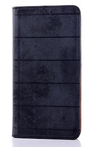 calidad rayas siente material de cuero de la PU deslice el soporte de la tarjeta para el htc 816 (colores surtidos)