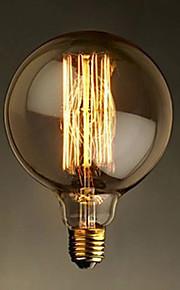 E27 40W g125 rett wire stor pære pære edison retro dekorative lyspærer