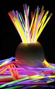 glowstick bricolaje pulsera luminosa luz 100 piezas