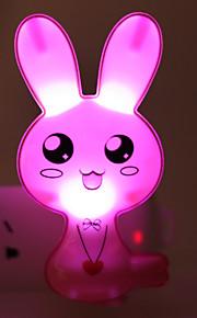 energibesparande LED-tecknad kanin ljus drivna läge nattlampa lampa