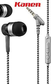 Kanen stereo da 3,5 mm a mani libere in cuffia dell'orecchio auricolare basso basso con il mic per gli smartphone