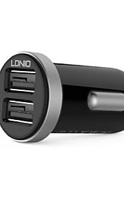 ldnio 2 Dual USB caricabatteria da auto per iPhone / Samsung e l'altro cellulare (5v 2.1a)
