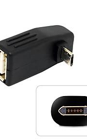 USB 2.0 OTGアダプタに男性の折り返しとターンダウンマイクロUSBをcy®
