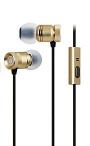 GGMM usignolo custodia in metallo leggero bassi profondi auricolare in-ear con microfono (oro)