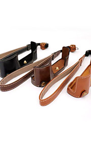 Dengpin PU Leather Half Camera Case Bag Cover Base for Olympus E-M10 MARK II EM10 Mark2 (Assorted Colors)