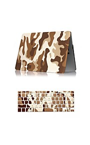 """2 in 1 Camouflage Design Matte Surface Hard Case Cover +Keyboard Cover for Macbook Air 11"""" Retina 13""""/15"""""""