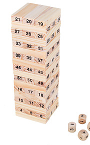 Mini Wiss Toys Balance 54 Wooden Blocks Toy