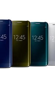 pu + pc di lusso specchio finestra caso corpo pieno di bordo Samsung Galaxy S6 più (colori assortiti)