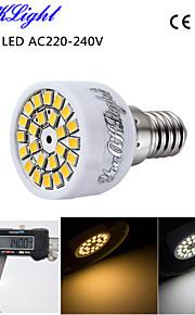 youoklight® 1pcs E14 3W 24-SMD 2835 ledet spotlight 3000k varm hvit lys / 6000K hvitt lys 220lm (ac 220 ~ 240V)