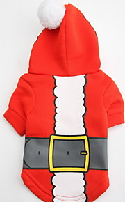 Dog Hoodies - XS / S / M / L - Winter - Red / White - Waterproof / Fashion - Cotton