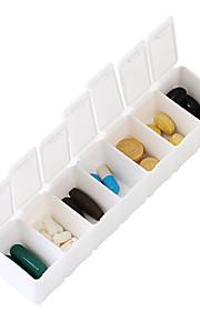 Travel Porta-Comprimidos para Viagem Portátil Acessórios de Emergência para Viagens Plástico