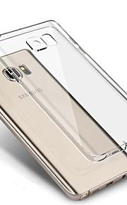per Samsung Galaxy s7 bordo trasparente chiaro TPU caso della copertura posteriore S7 S6 S5 s4 bordo più