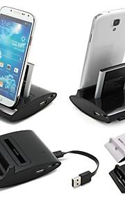 cwxuan® 3 in carica di sincronizzazione di dati stazione OTG caricatore base USB 1 desktop per la galassia s3 i9300