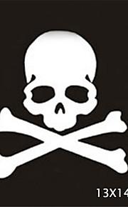 13X14CM Funny Ghost rider skulls Car Sticker Car Window Wall Decal Car Styling (1pcs)