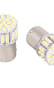 1156 / BA15s 5w 50 smd hvit LED for bil styring lys / rygge / bremselys (DC12V, 4 stk)