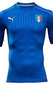 2016 Europ Cup Italy Natioanl Football Team Unisex Half Sleeve Soccer Tops Wicking Blue  M / L / XL