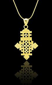 etiopiske kors vedhæng 18k guld fyldt forgyldt etiopien element smykker afrika kvinder mænd