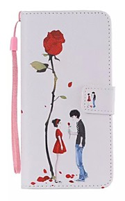 Lovers rose Painted PU Phone Case for ipod touch5/6