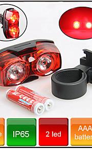 Rear Bike Light / Safety Lights Bike Warning Light 3 Mode 80 Lumens Waterproof AAA Battery Cycling/