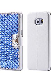 cristallo di lusso bling&Borsa del cuoio di vibrazione diamante per SamsungGalaxy S7 (colori assortiti)
