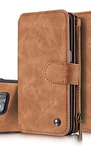 Per Samsung Galaxy S7 Edge A portafoglio / Porta-carte di credito / Con chiusura magnetica Custodia Integrale Custodia Tinta unitaVera