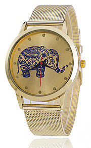 Xu™ Women's The Elephant Golden Mesh Belt Quartz Watch Cool Watches Unique Watches