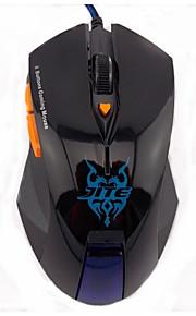 wesing JT-2045 6 botones con cable óptico del juego negro ratón para juegos