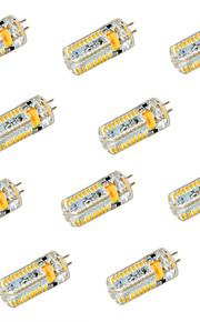 6W G4 LED-lamper med G-sokkel T 72 SMD 3014 600 lm Varm hvit / Kjølig hvit Dekorativ DC 12 / AC 12 / AC24 / DC 24 V 10 stk.