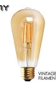1 stk. GMY E26 3W 4 COB ≥300 lm Varm hvit ST21 edison Vintage LED-glødepærer AC 110-130 V