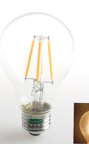 1 pieza Zweihnder E26/E27 4W 4 COB 380 lm Blanco Cálido A60(A19) edison Cosecha Bombillas de Filamento LED AC 100-240 V