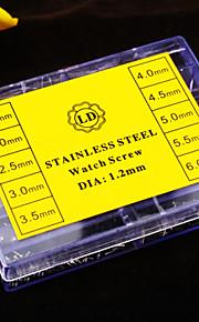 aço inoxidável relógio ferramenta de reparo do relógio do parafuso 10 Especificações