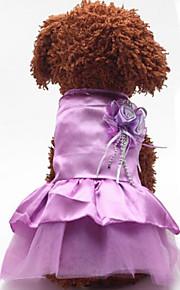 Собаки Платья Красный / Синий / Розовый / Лиловый Лето / Весна/осень Классика / Однотонный Свадьба / Мода-Lovoyager