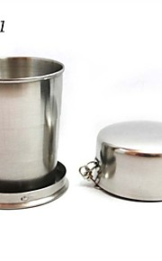 250ml Stainless Steel Portable Outdoor Travel Camping Collapsible Cup