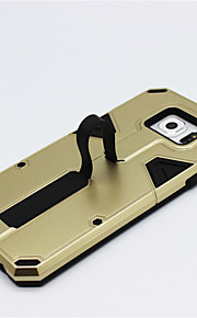 anello telescopica staffa armatura resistente agli urti della copertura posteriore per la galassia S6 ibrido PC + TPU protettore