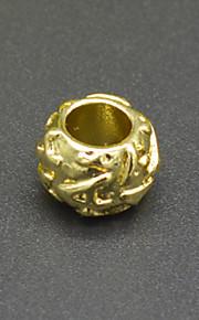 DIY beaded armbånd halskæde tilbehør english størrelse en vakuum plating 18 karat guld bogstaver makroporøse perle hac0045