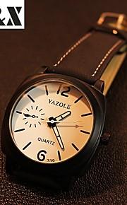 relógio de moda de quartzo liga noite luz dos homens (cores sortidas)