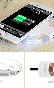 qi trådløs strøm lader lading pad for samsung galaxy s6 / edge / Nexus 4 g3 g4 + mottaker kit for iPhone 5 / 5s / 6 / 6plus