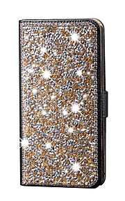 Luxury Shiny Diamond Full PU Leather Case Cover With Safe Buckle Cell Phone Bling Case For iPhone 5/5S