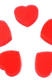 elsker magiske rekvisitter svamp hjerte rødt 5pcs