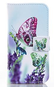 papillon peint pu étui de téléphone pour iphone 6 / 6s / 6plus / 6splus