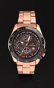 relógios em aço inoxidável pulso moda masculina