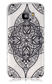 Black Flower Corners Pattern Slip TPU Phone Case For Samsung Galaxy S7/S7 edge