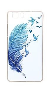 pluma azul nueva TPU suave cubierta de la caja para las bolsas de las cajas del teléfono móvil Doogee x5
