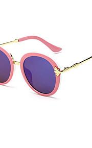 Solbriller kvinder's Moderne / Mode Rund Sort / Hvid / Pink Solbriller Full-Rim