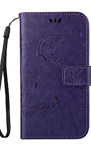 Embossed Butterfly Purse Style with Lanyard Phones for  Galaxy A